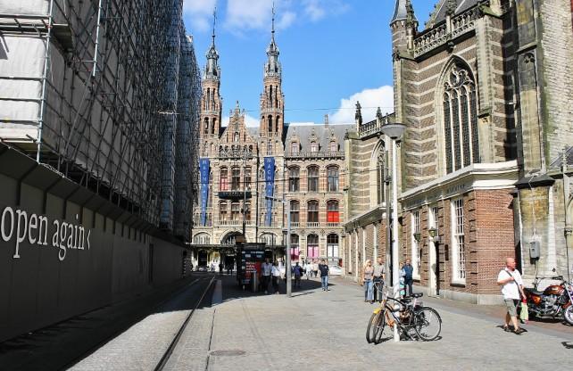 Amsterdam - kanały, rowery - w centrum