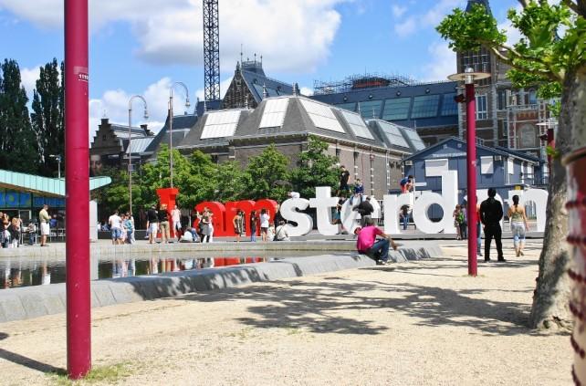 Amsterdam - kanały, rowery
