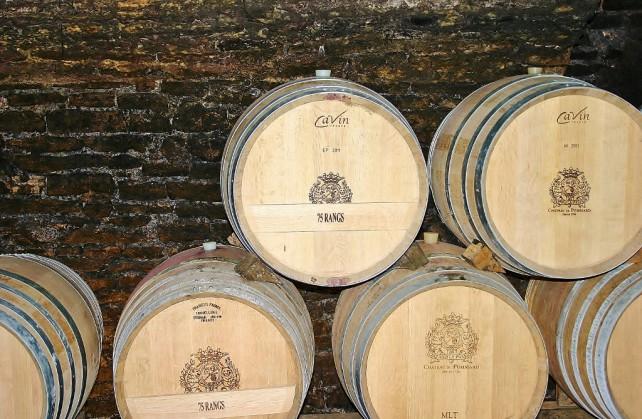 Beczki z winem