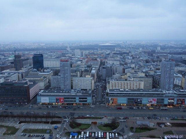 Warszawa: widok z góry