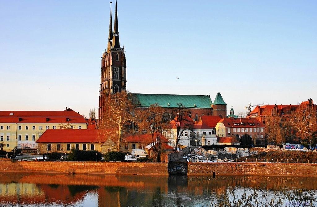Wrocław widok na katedrę