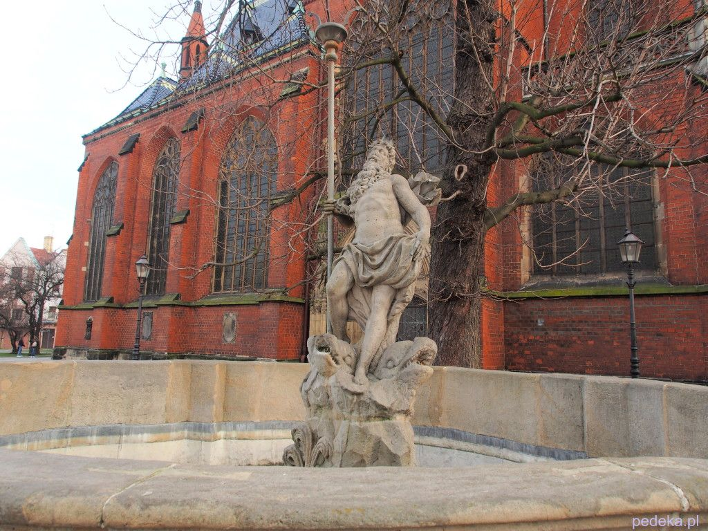 Zwiedzanie Legnicy, fontanna Neptuna
