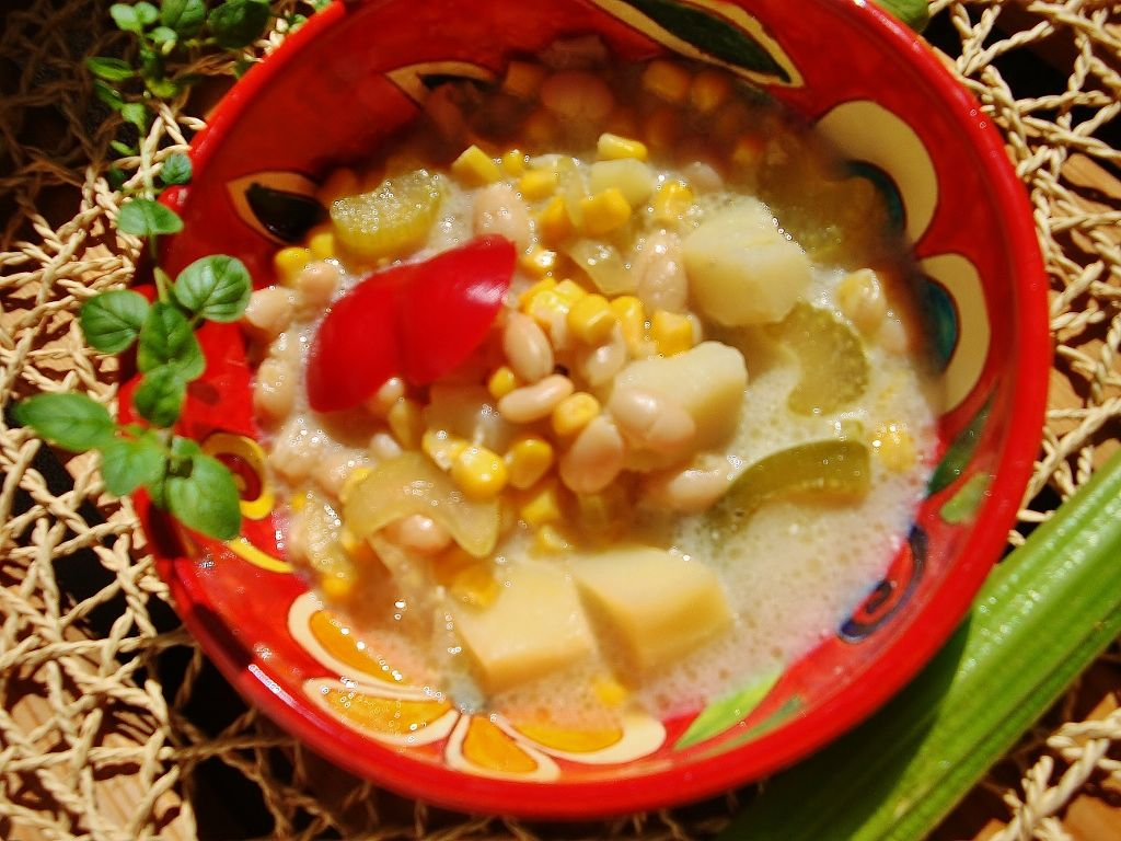 Amerykańska zupa z kukurydzą
