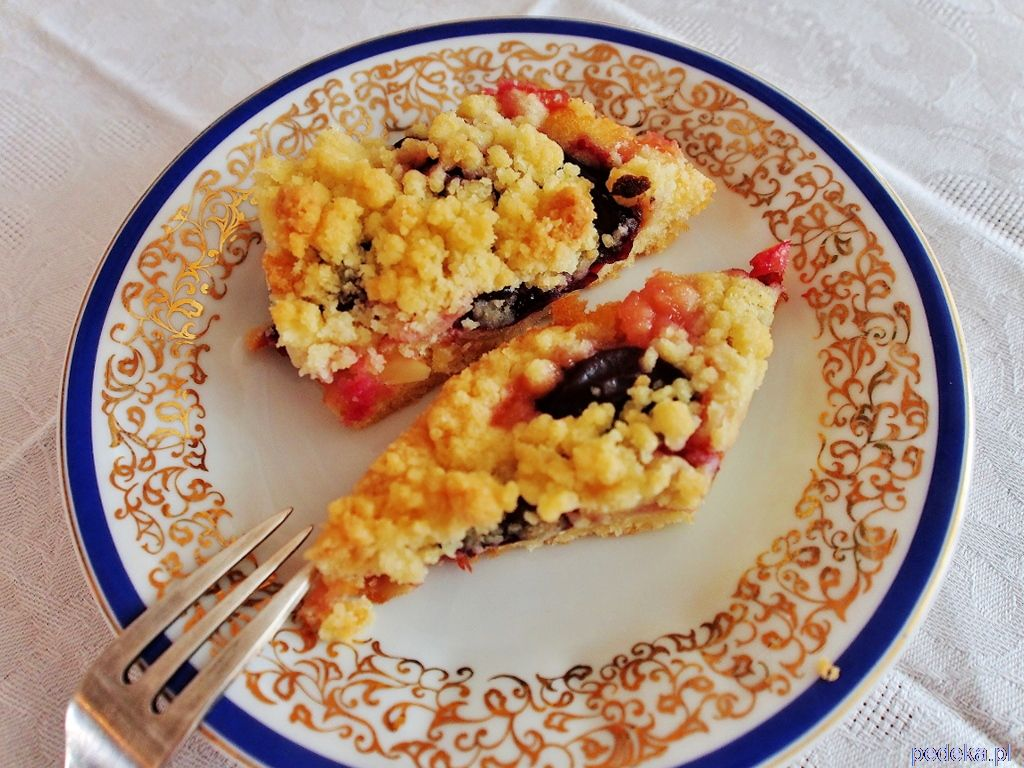 Ciasto śliwkowe z kruszonką