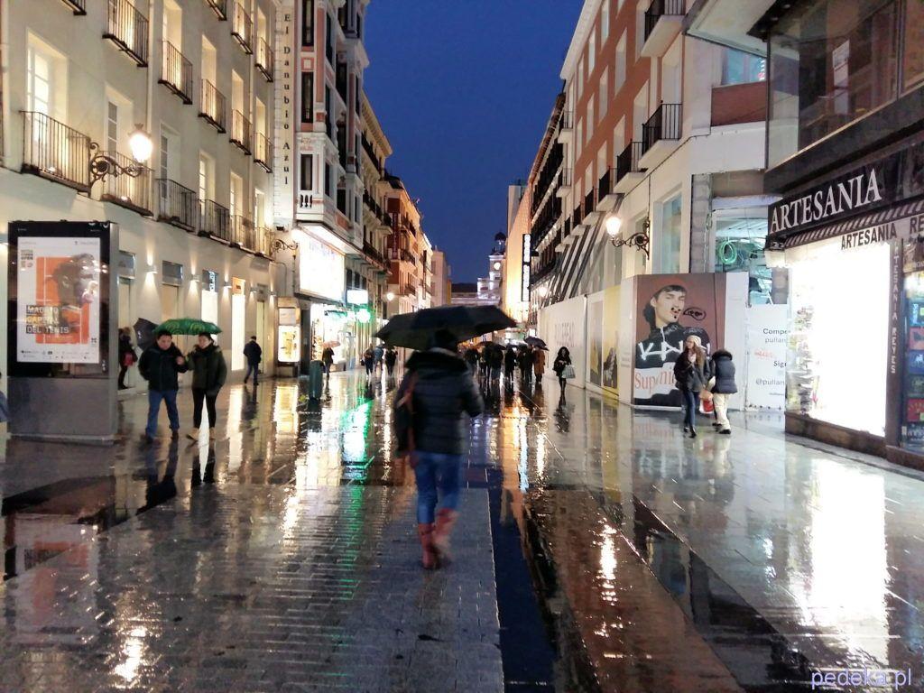 Madryt podczas okropnej pogody