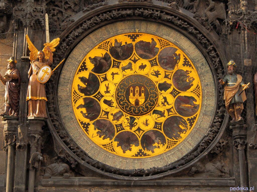 Dolna tarcza praskiego zegara