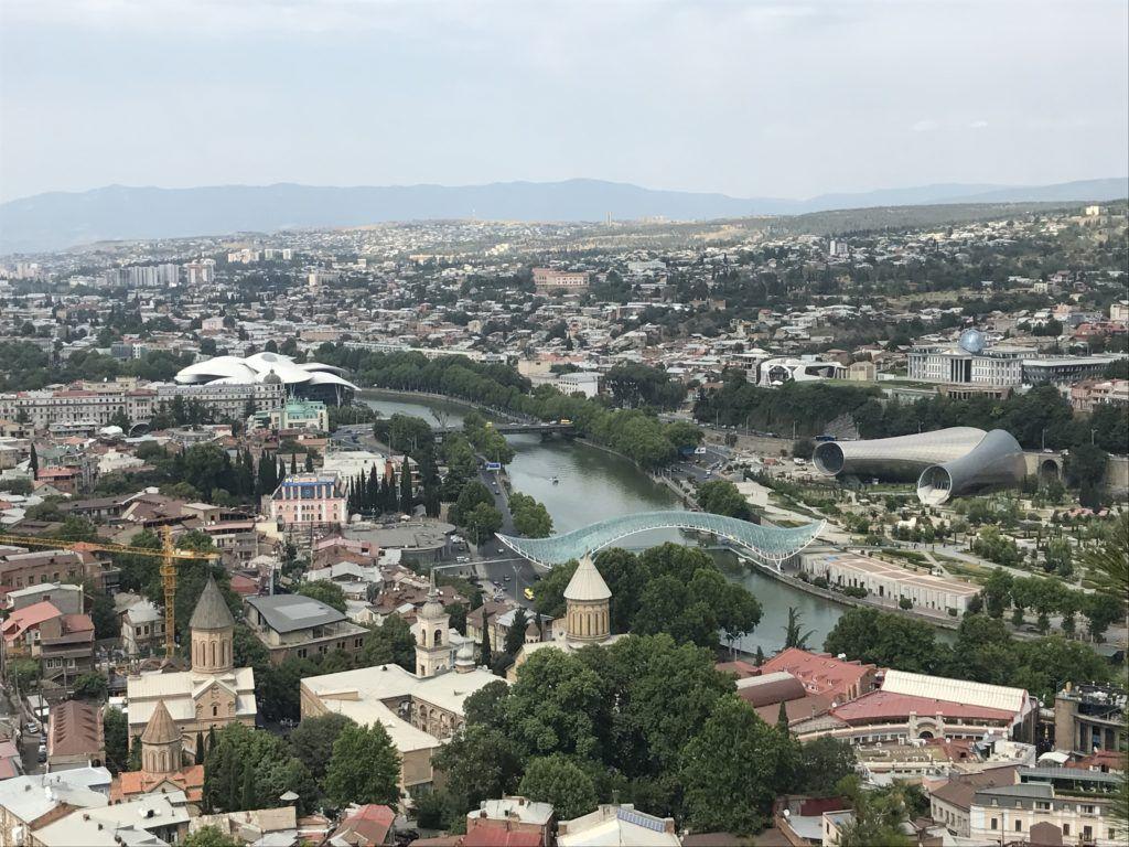 Tbilisi widziane z góry