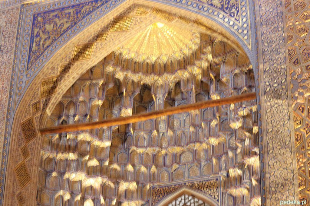 To też mauzoleum Timura w środku