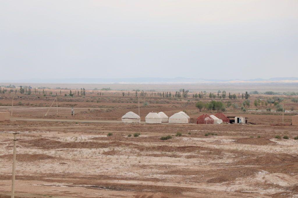 Wycieczka z Chiwy na Pustynię Kyzył-kum. Jurty