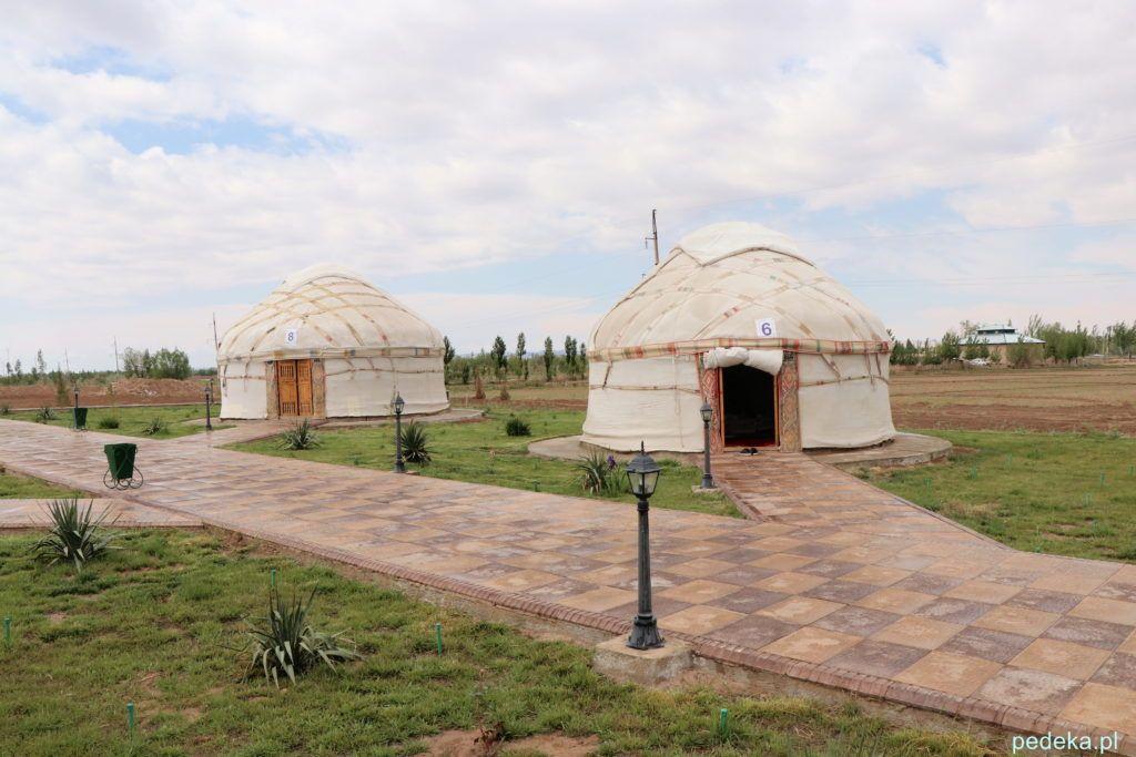 Wycieczka z Chiwy na Pustynię Kyzył-kum. Restauracja w jurtach