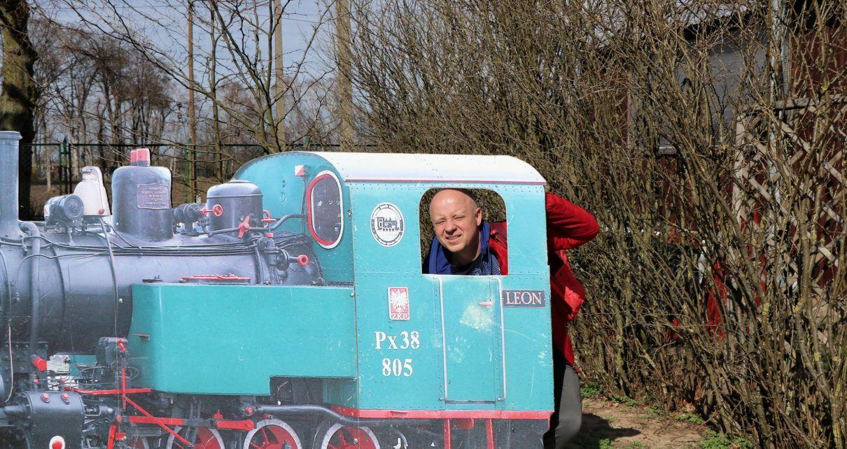 Marcin w lokomotywie