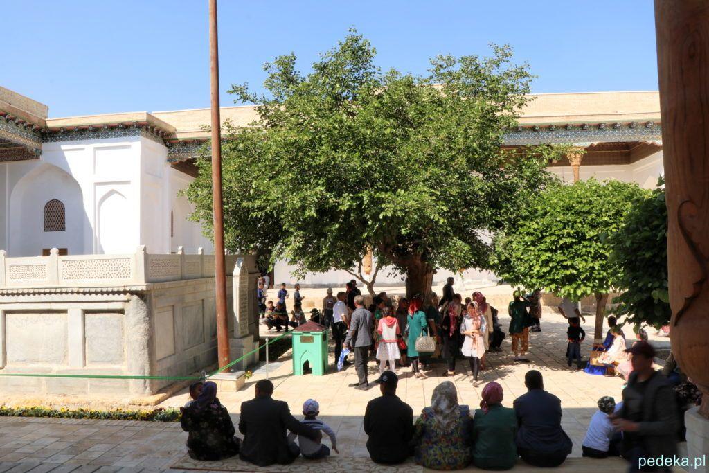 Wycieczka po okolicach Buchary. Przed meczetem