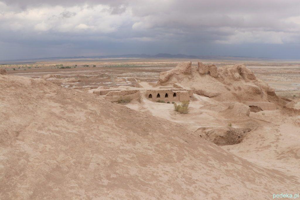 Uzbekistan - informacje praktyczne. Pustynia Kyzył-kum, bez taksówki byśmy tam nie dotarli