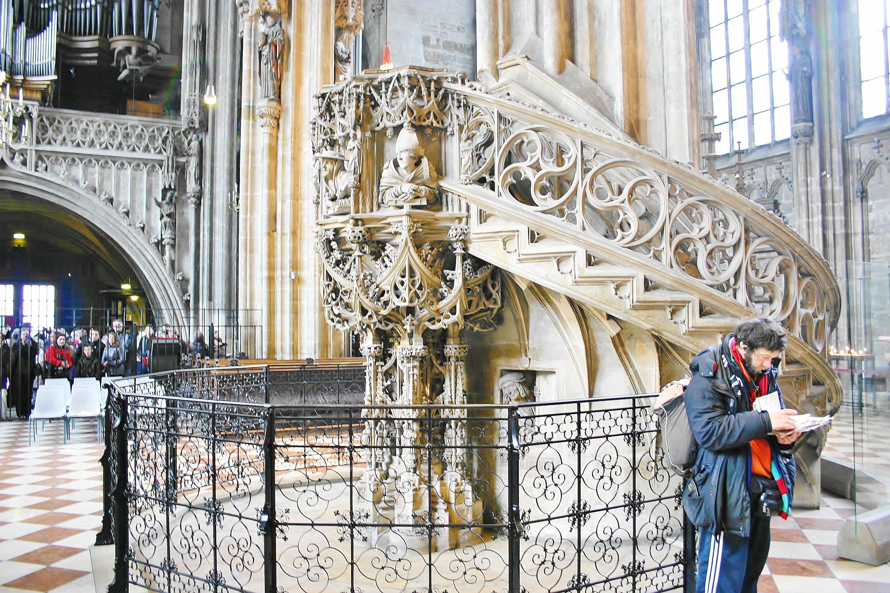Jeden dzień w Wiedniu.Wnętrze katedry