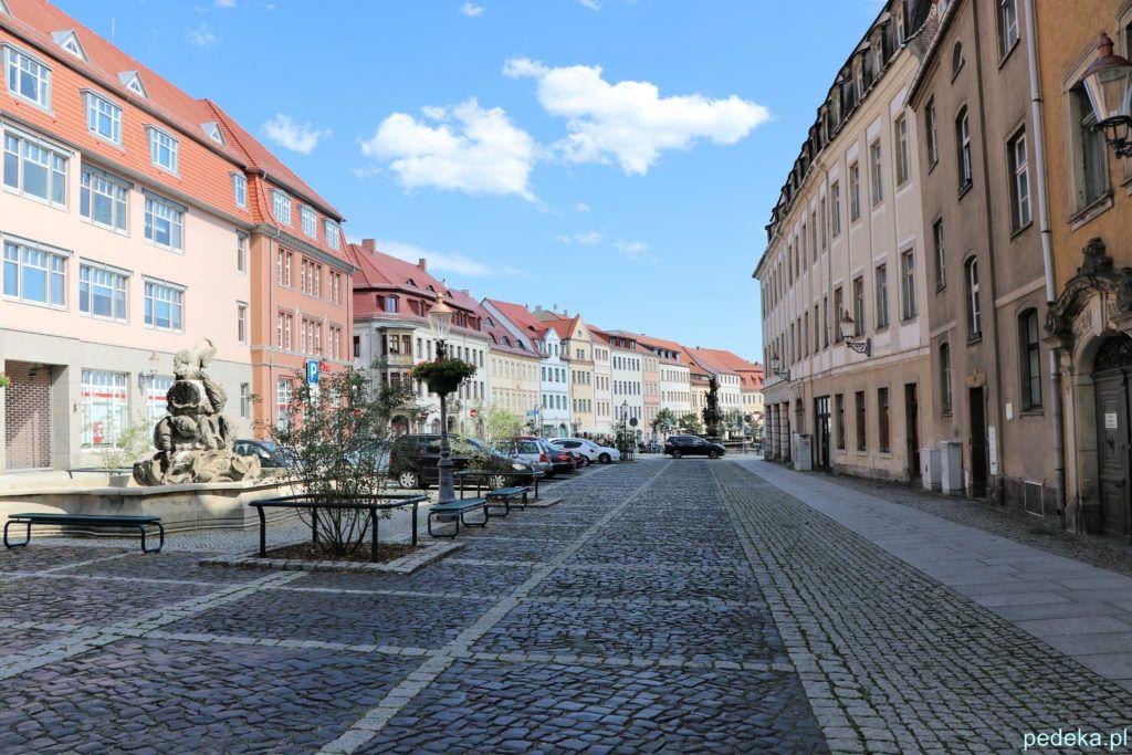 Żytawa, czyli Zittau, ulica w centrum miasta