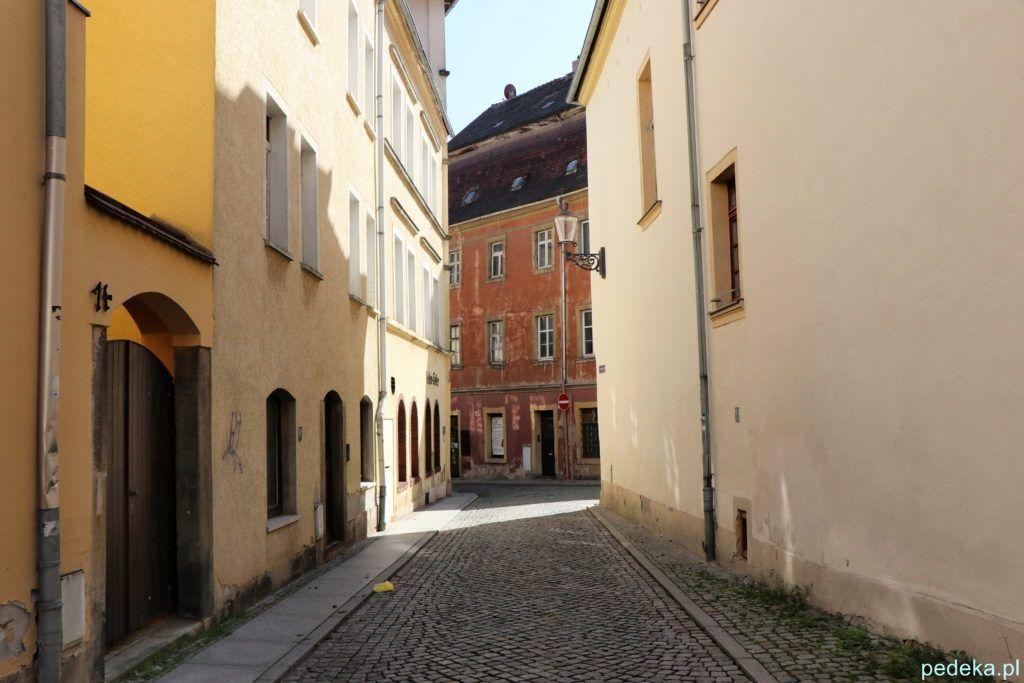 Urocza, wąska uliczka w Zittau