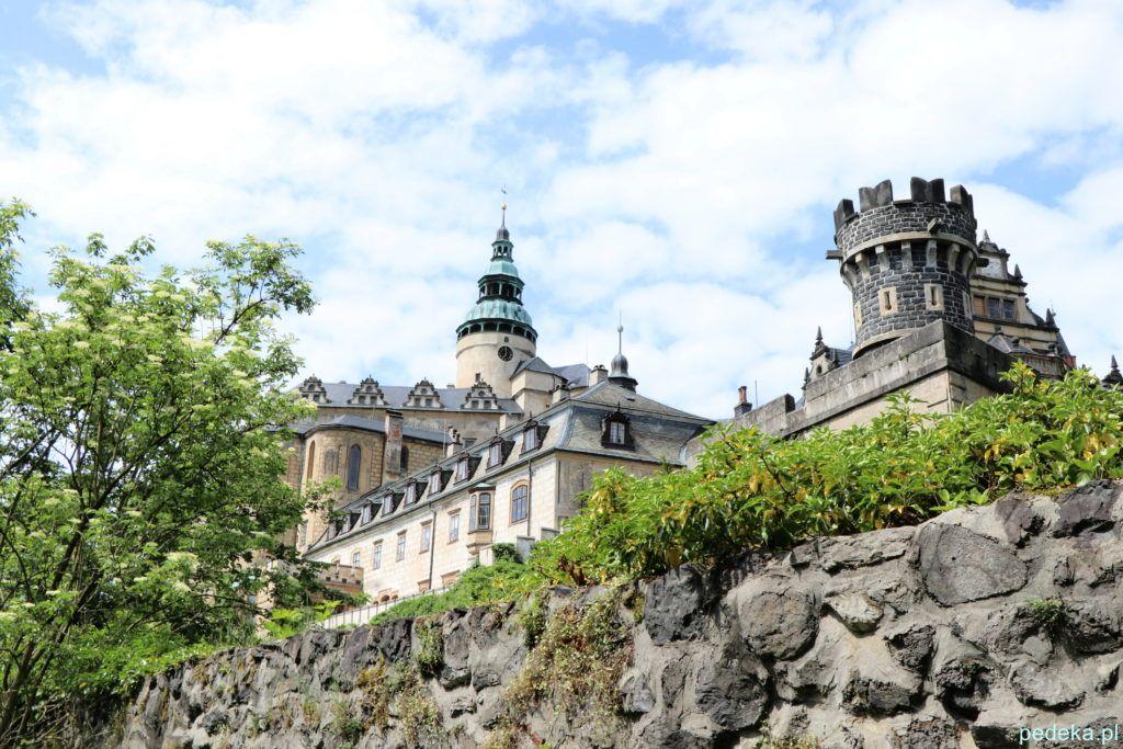 Zamek Frydlant w Czechach. Widok zamku z zewnątrz