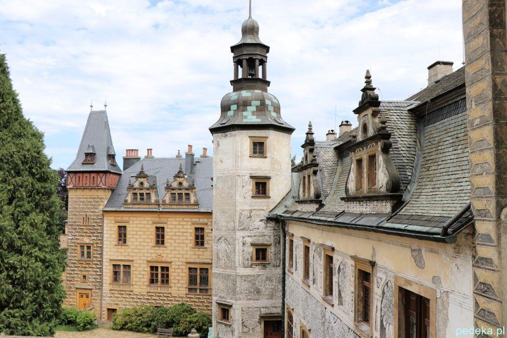 Zamek Frydlant w Czechach. Zabudowania zamkowe