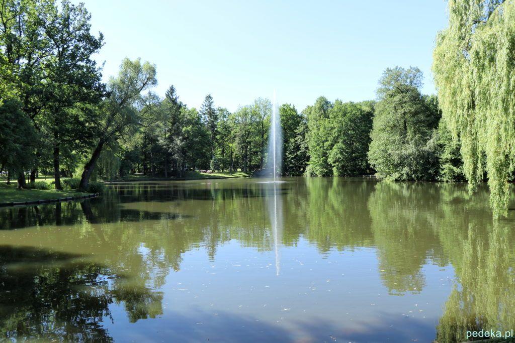 Drugi park, staw z fontanną