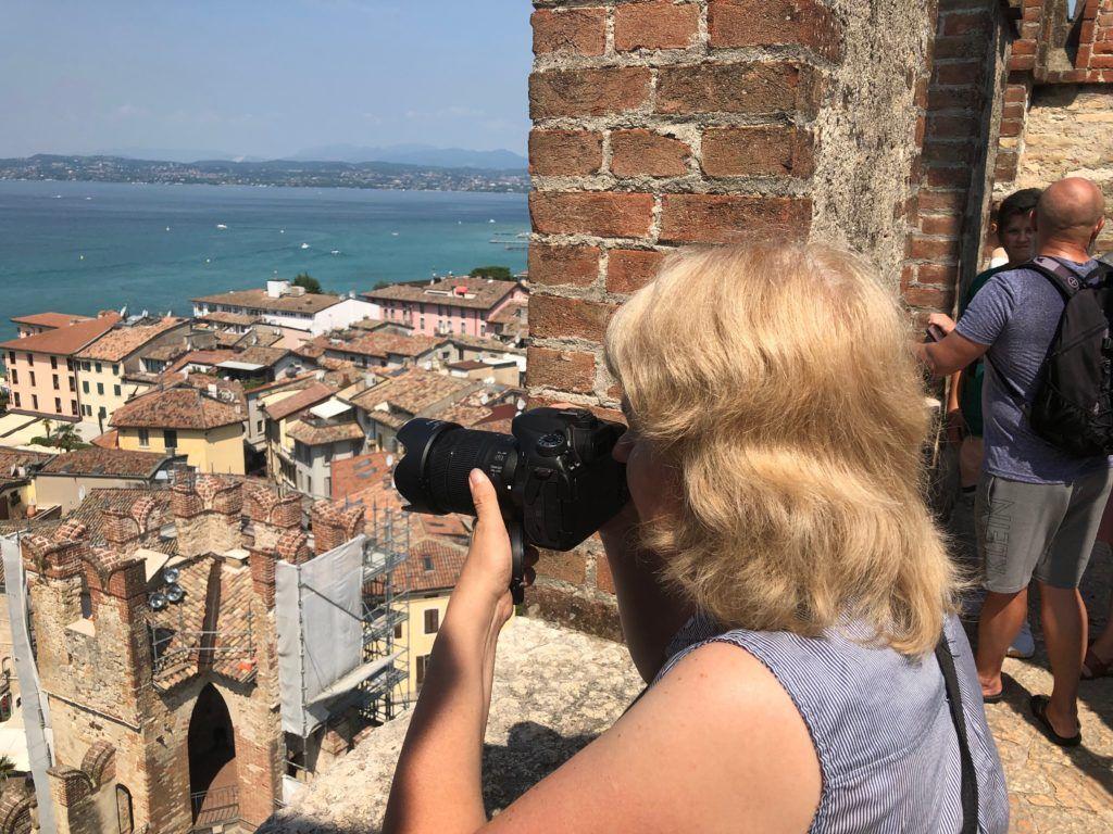 Ja podczas fotografowania widoku z zamku