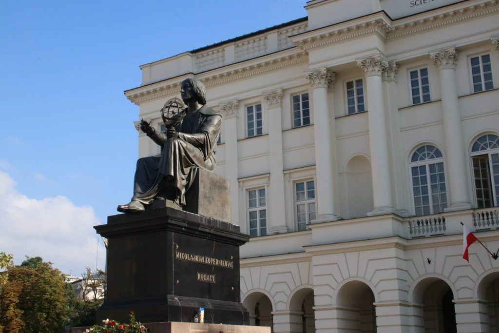 Weekend w Warszawie. Pomnik Mikołaja Kopernika