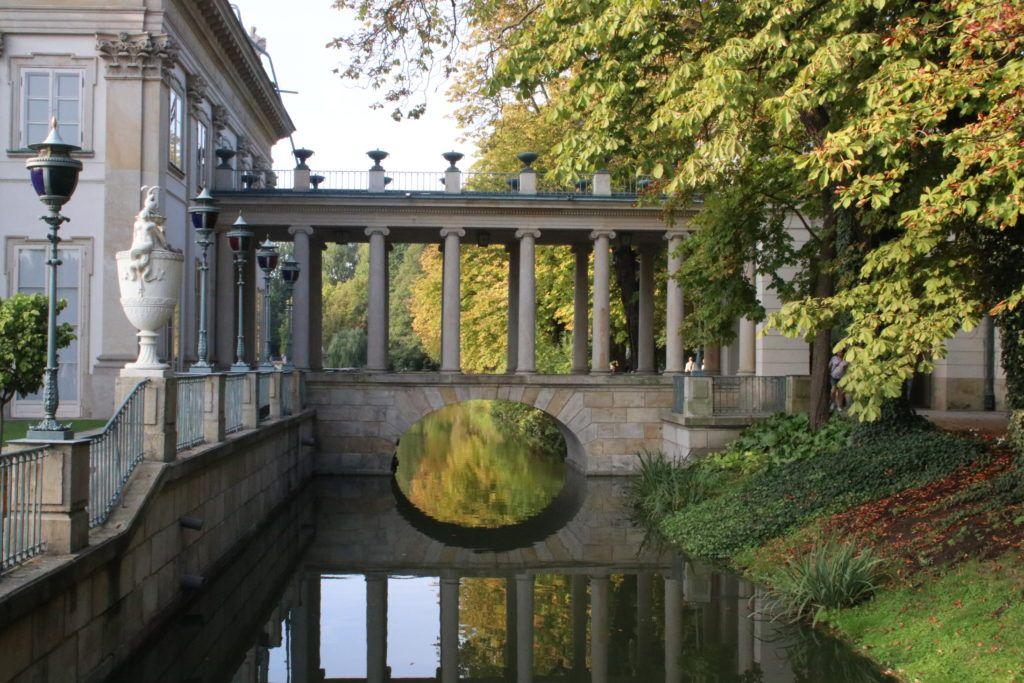 Łazienki Królewskie jesienią
