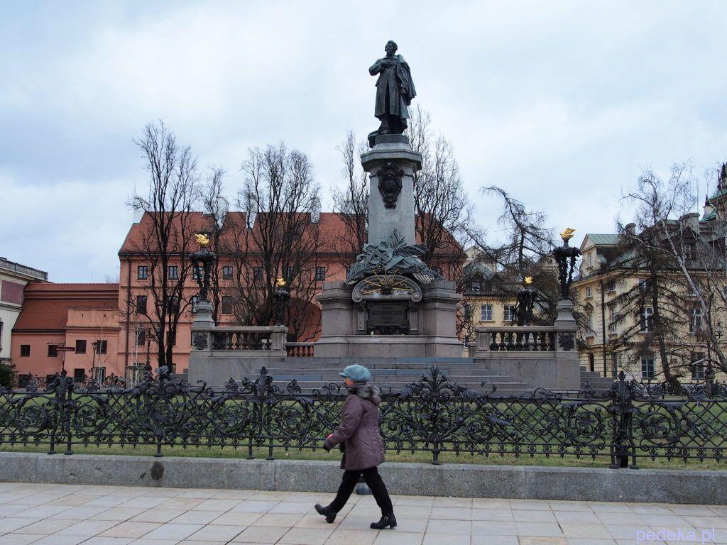 Weekend w Warszawie. Pomnik Mickiewicza