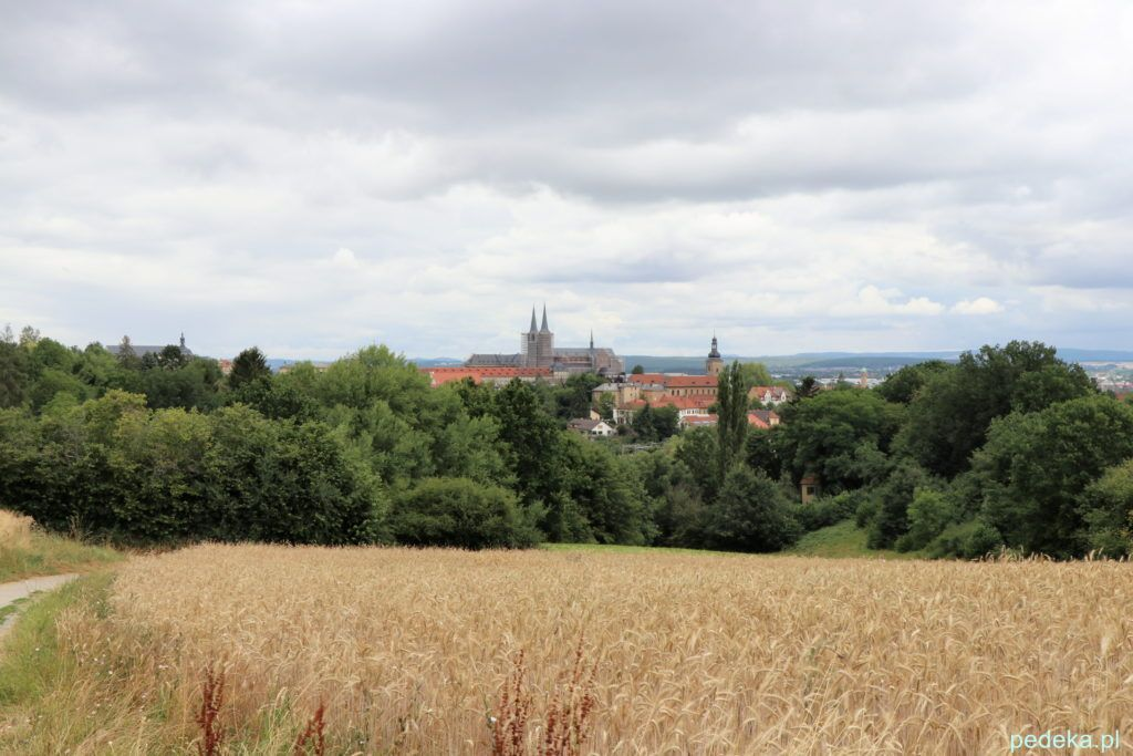 Bamberg. Widok miasta z drogi do zamku Alterburg