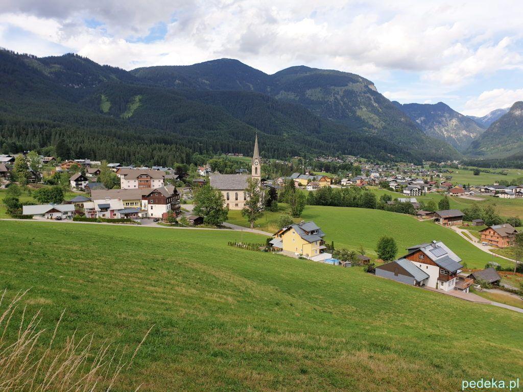 Gosau, miasto widziane z góry