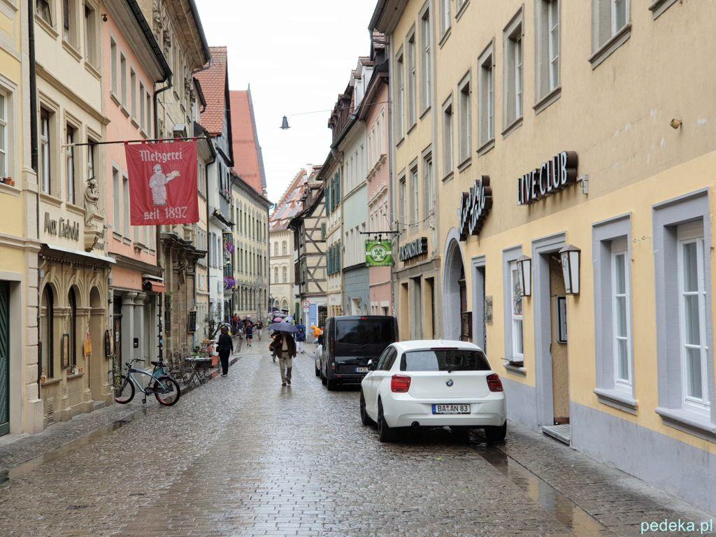 Bamberg. Jedna z ulic na starym mieście