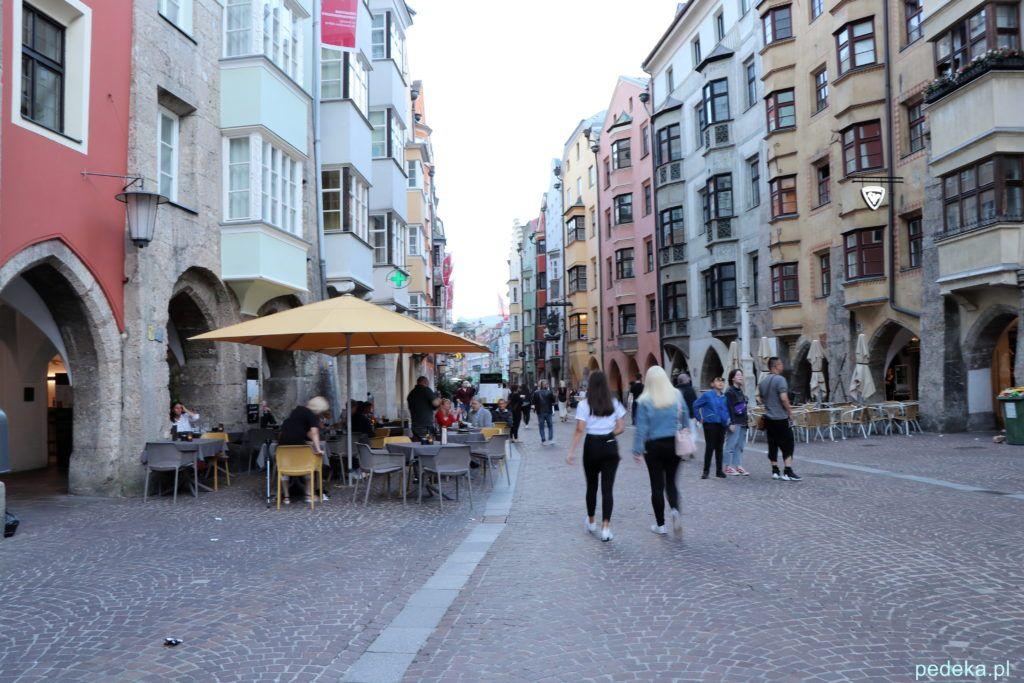 Innsbruck.  Zabytkowe domy