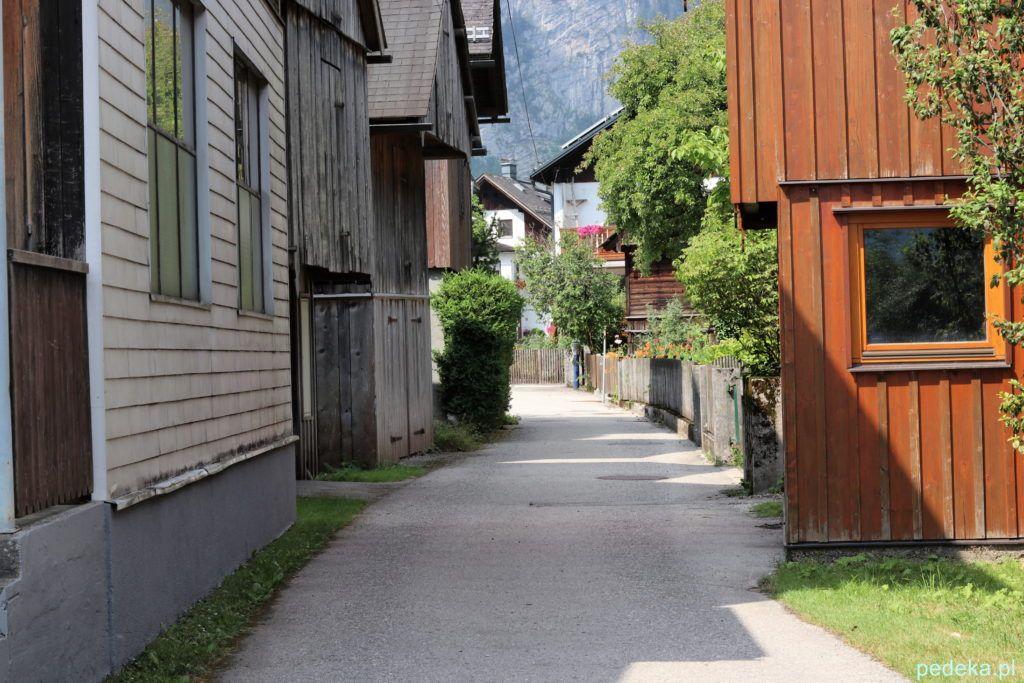 Hallstatt, uliczka prowadząca do centrum