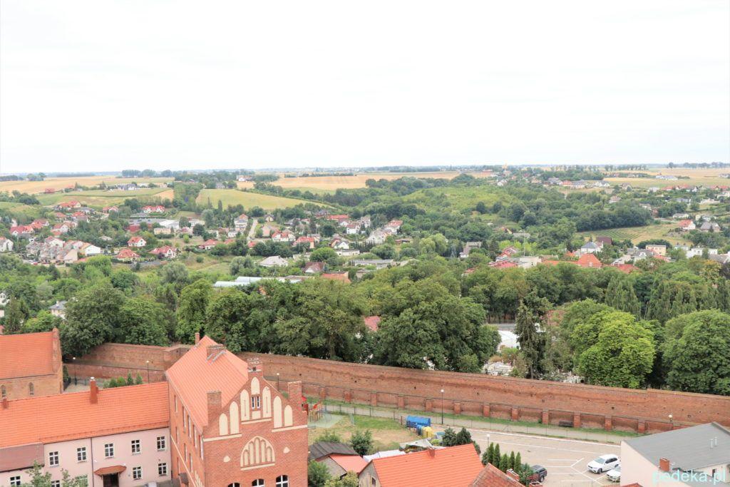 Chełmno. Mury miejskie widziane z góry