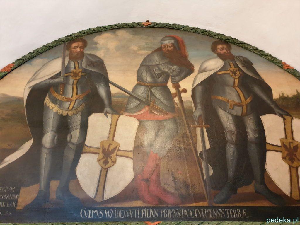 Chełmno. Malowidło na ścianie w muzeum