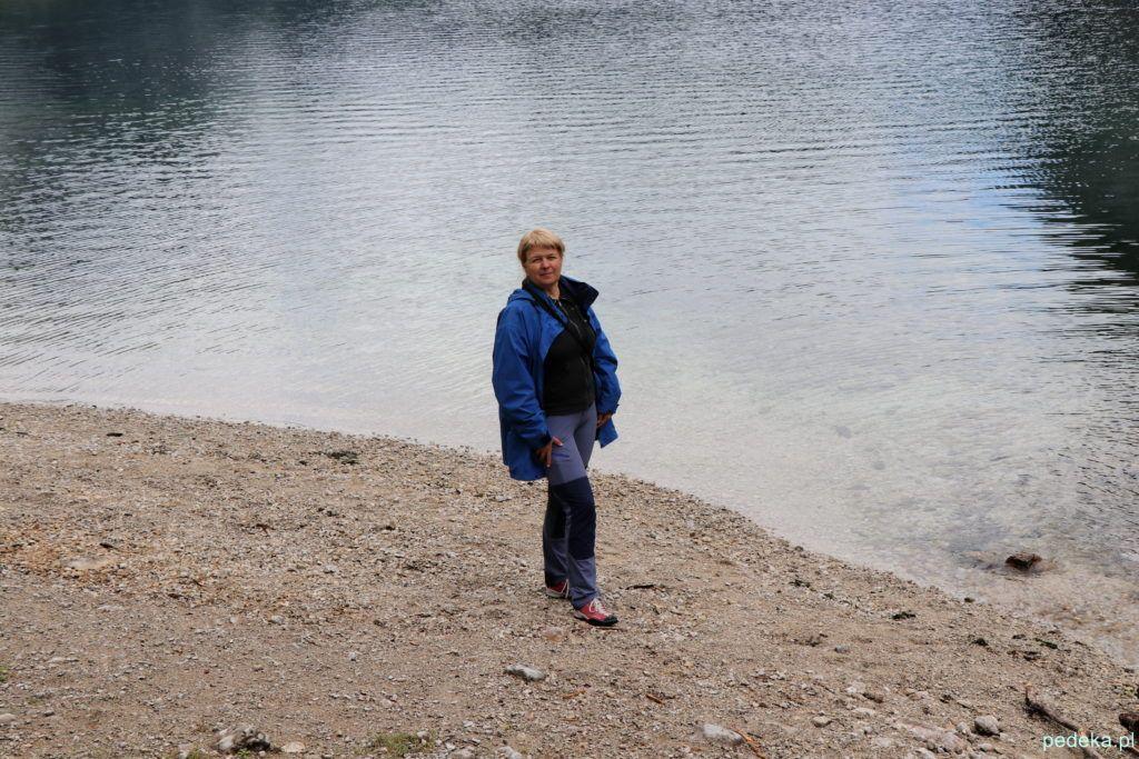 Ja na brzegu jeziora