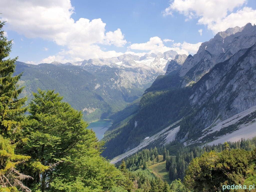 Zwieselalm. Widok na jezioro Gosau