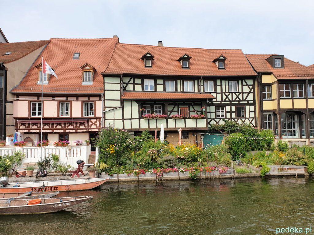 Bamberg. Domki rybaków widziane ze statku