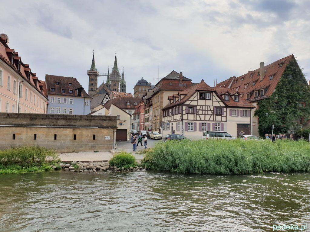Bamberg. Miasto widziane ze statku