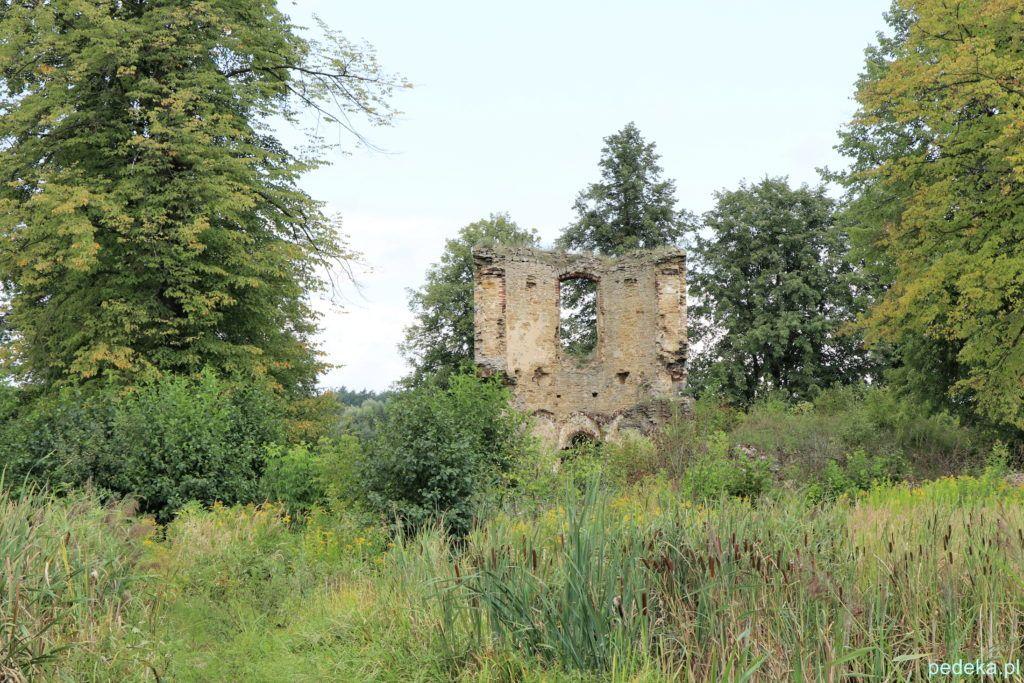 Część zamku na wyspie