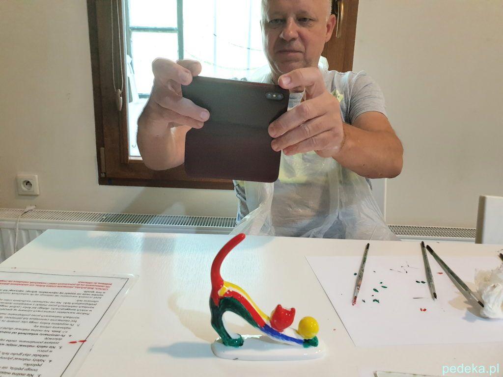 Marcin fotografuje swoje dzieło
