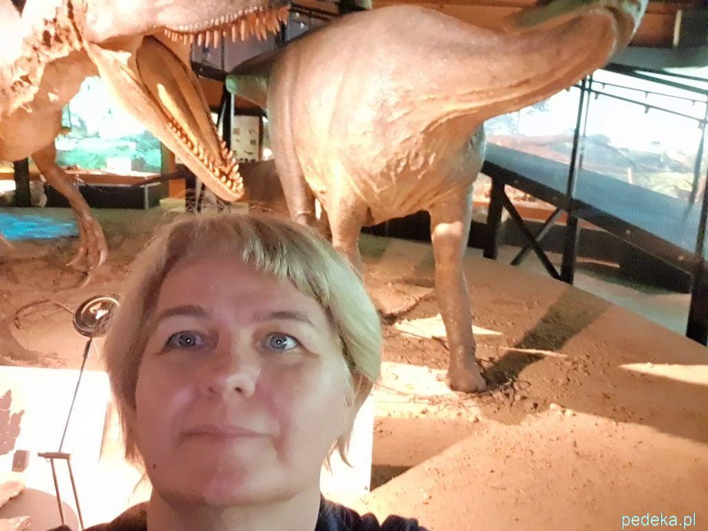 Moje selfie z dinozaurem