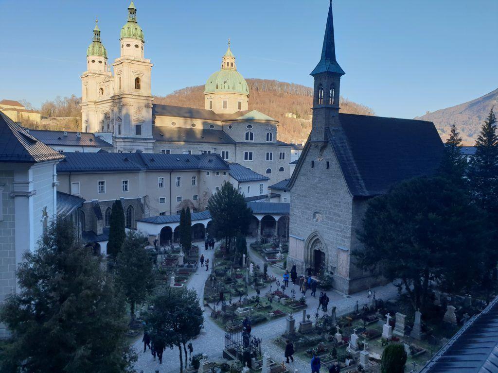 Salzburg. Widok z katakumb