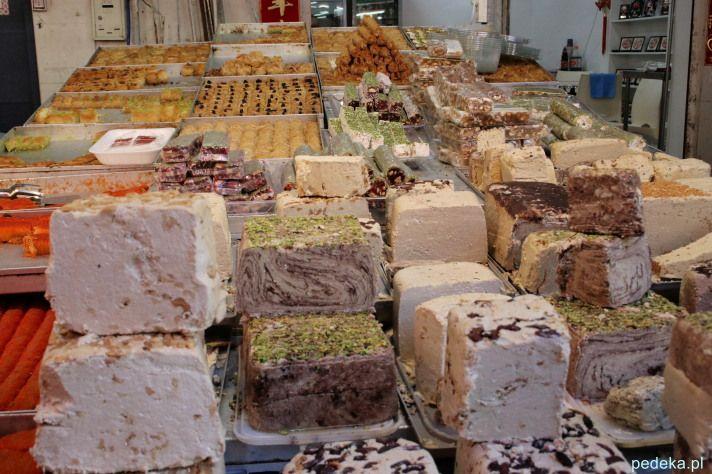 Słodycze na bazarze w Tel Awiwie