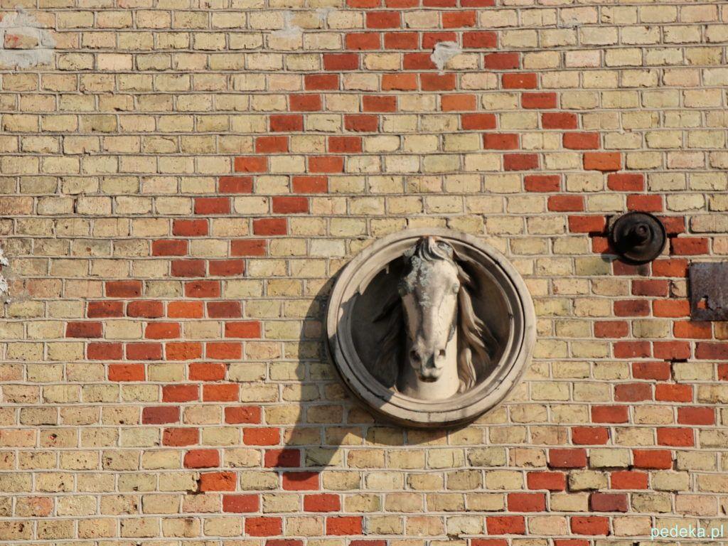 Pałac w Choroszczy. Rzeźba konia na budynku dawnej stajni