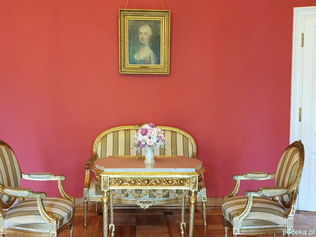 Pałac w Choroszczy. Na ścianie portret Izabeli Branickiej