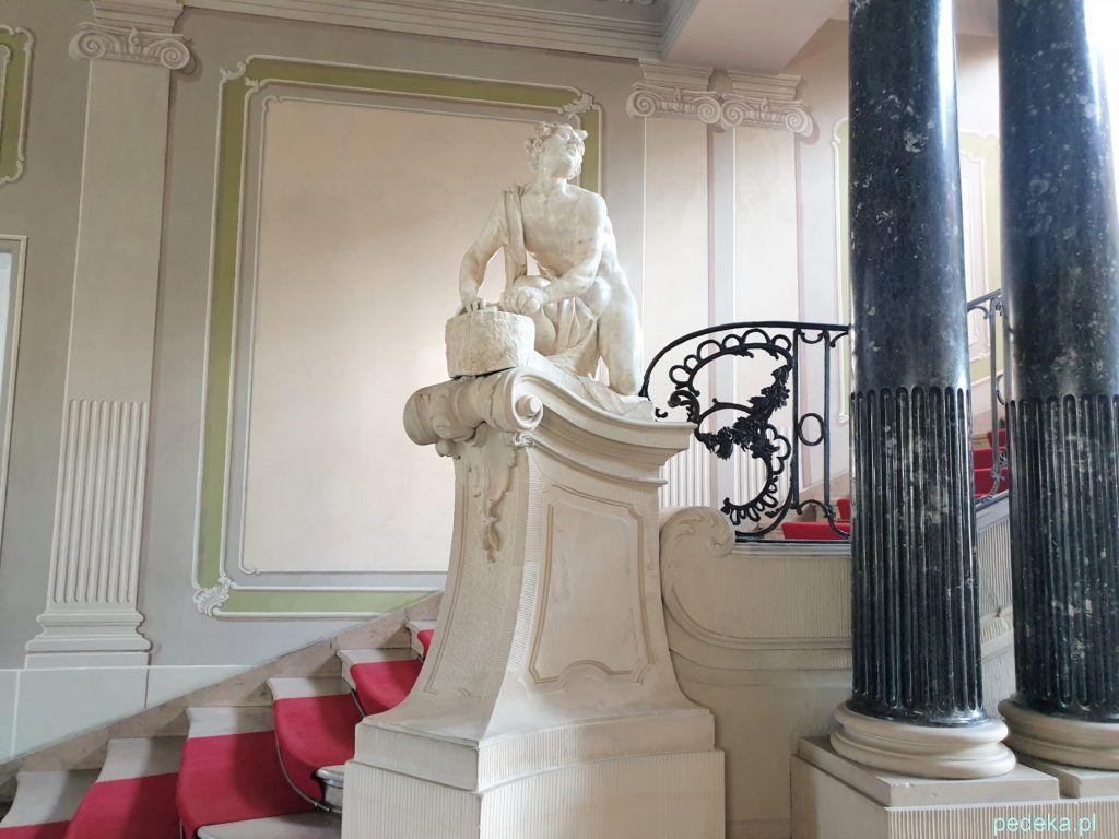 Białystok. Klatka schodowa w Pałacu Branickich