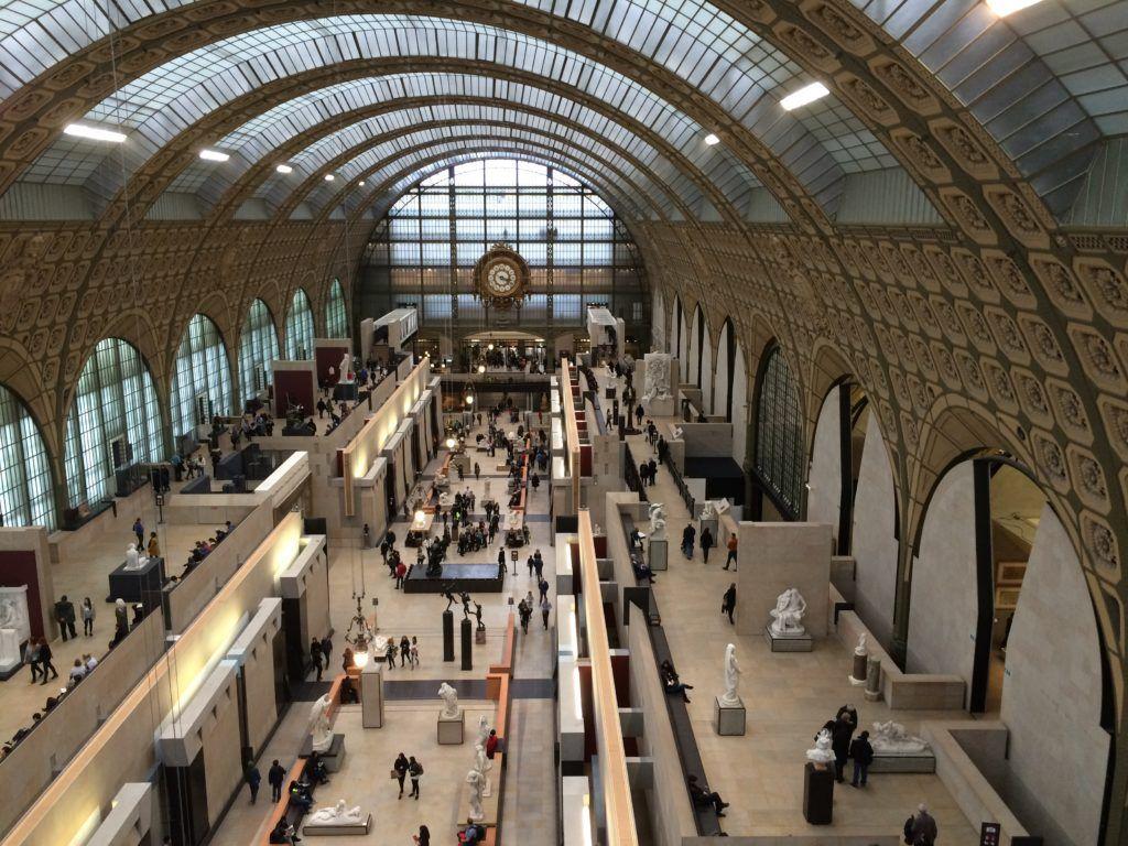 Paryż, wnętrze Muzeum d'Orsay