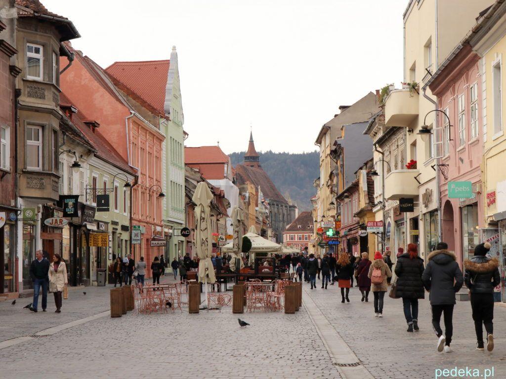 Braszów. Ulica wiodąca do Rynku