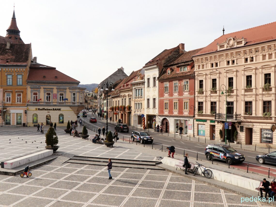 Braszów. Kamieniczki w Rynku