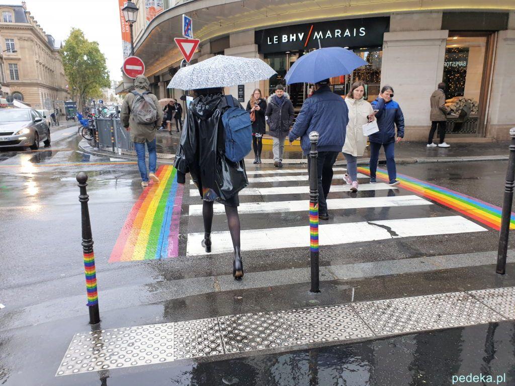 Paryż Le Marais. Tęczowe przejście